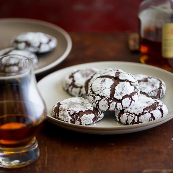 Bourbon Dark Chocolate Crack Cookies Recipe