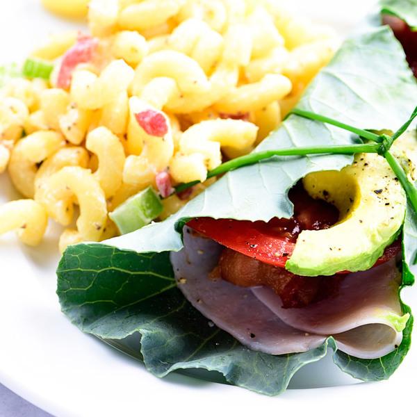 Turkey Bacon Avocado Collard Wraps Recipe
