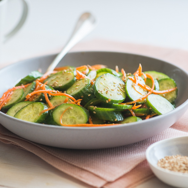 Refreshing and Light Sesame Cucumber Carrot Salad