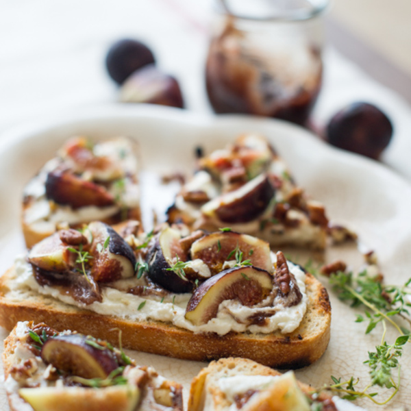 Fig Bruschetta Recipe and Love of Fig Photographs