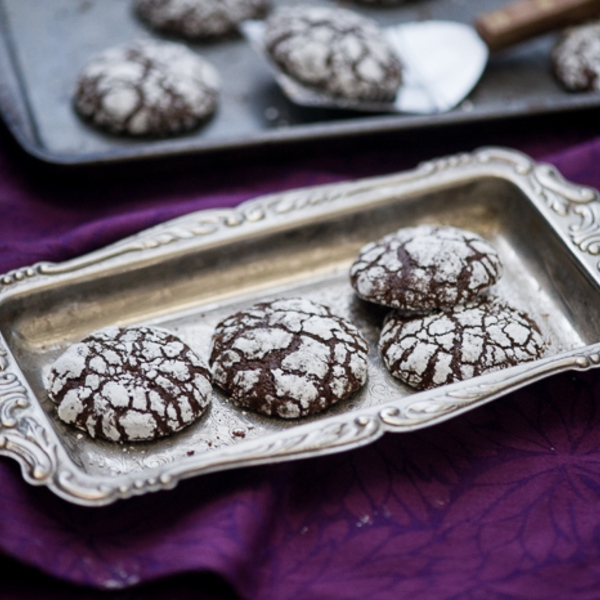 Joy to Your World & Ginger Molasses Dark Chocolate Crinkle Cookies