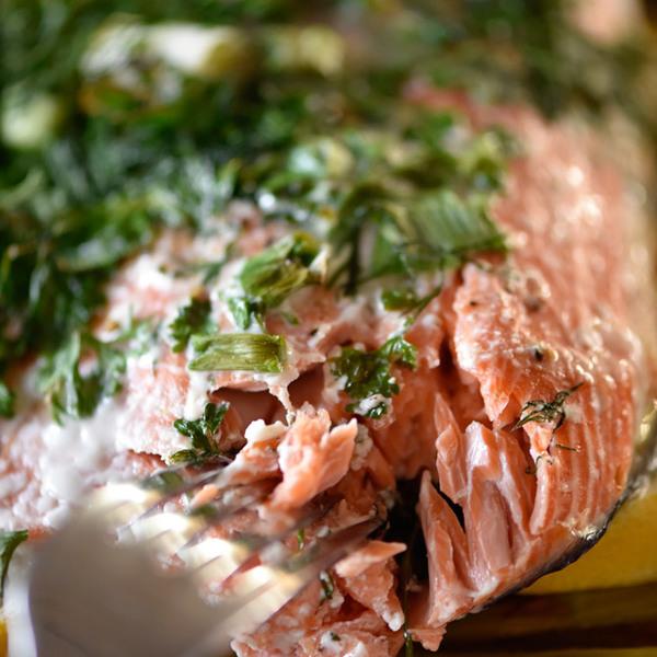 Herb Crusted Salmon In Foil Recipe