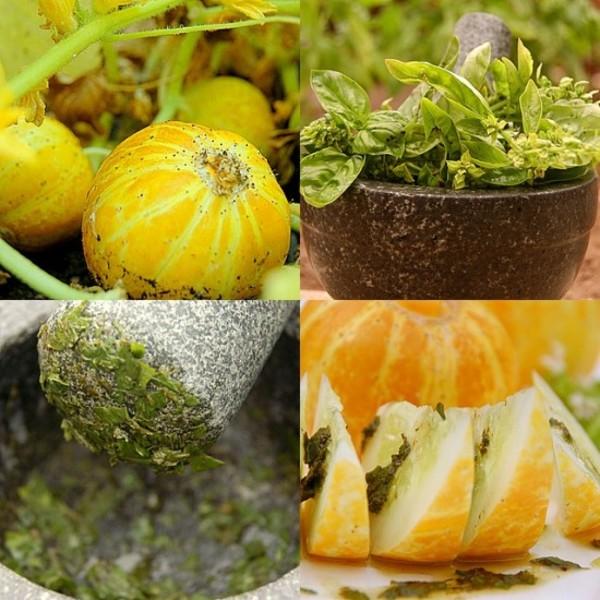 Lemon Cucumbers salad + Italian Basil Pesto Recipe