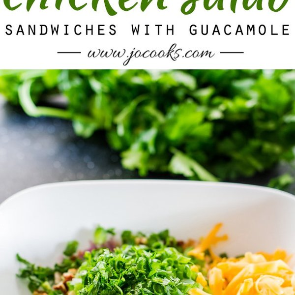 Loaded Chicken Salad Sandwiches with Guacamole
