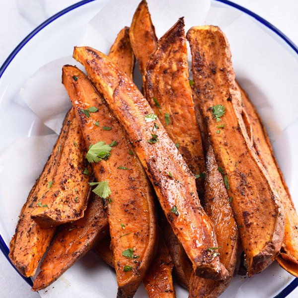 Spicy Roasted Sweet Potato Wedges Recipe