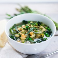 Spring Vegetable and Chickpea Minestrone- (serves 8)