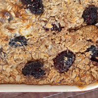 Baked Oatmeal with Blackberries & Coconut