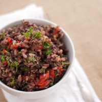 Baked Rice with Herbs and Veggies