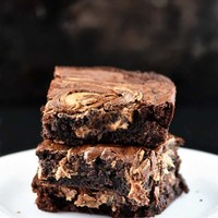 Peanut Butter Marbled Brownies Recipe