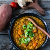 Sweet Potato and Lentil Dal