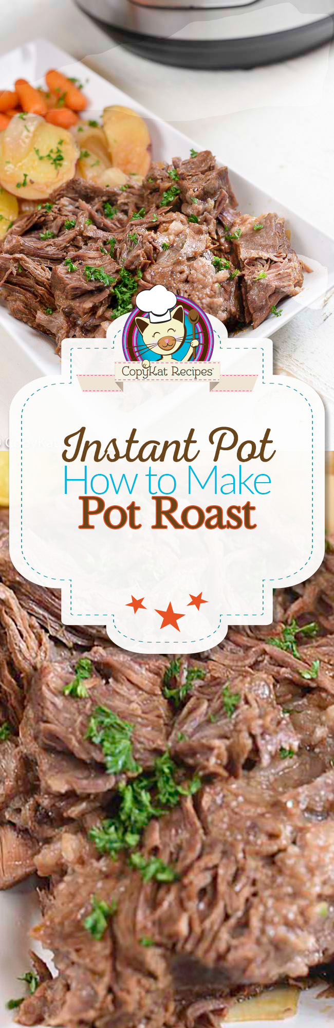 You can make a flavorful Pot Roast in your Instant Pot, it's so easy to prepare a pot roast.