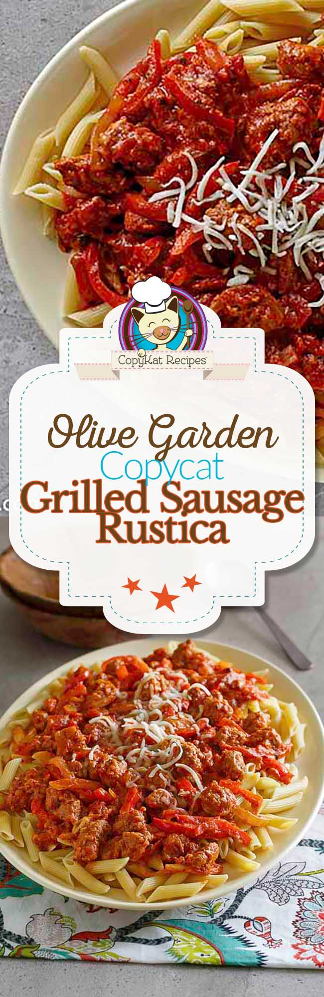 You can make the Olive Garden Grilled Sausage and Pepper Rustica with this easy copycat recipe.