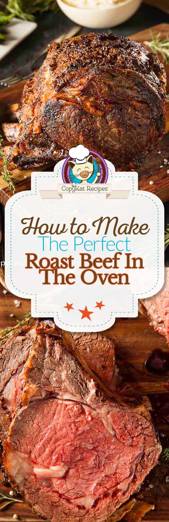 Step by Step instructions on how to make the perfect roast beef in the oven. #oven #beef #roastbeef #howtocook #howlongtocook