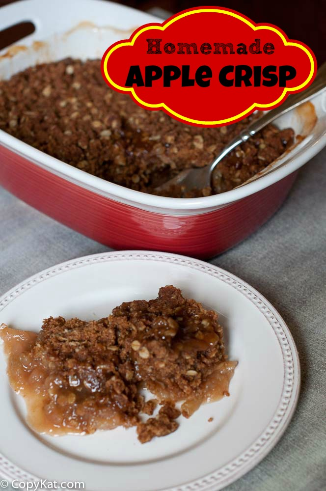 Easy Homemade Apple Crisp from CopyKat.com