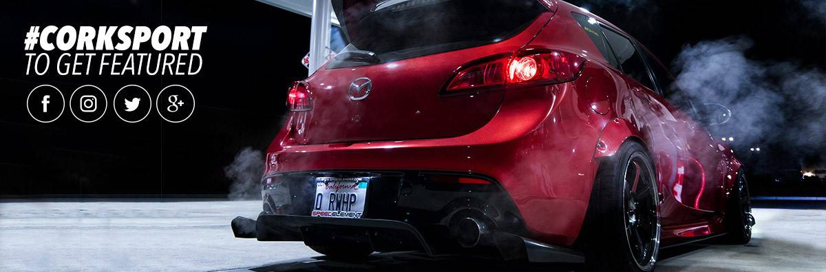 Click here to get your Mazda and Mazdaspeed featured by CorkSport