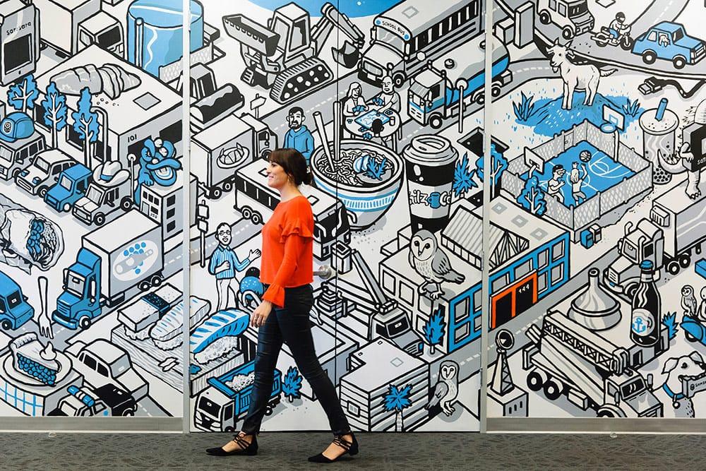 samsara office mural