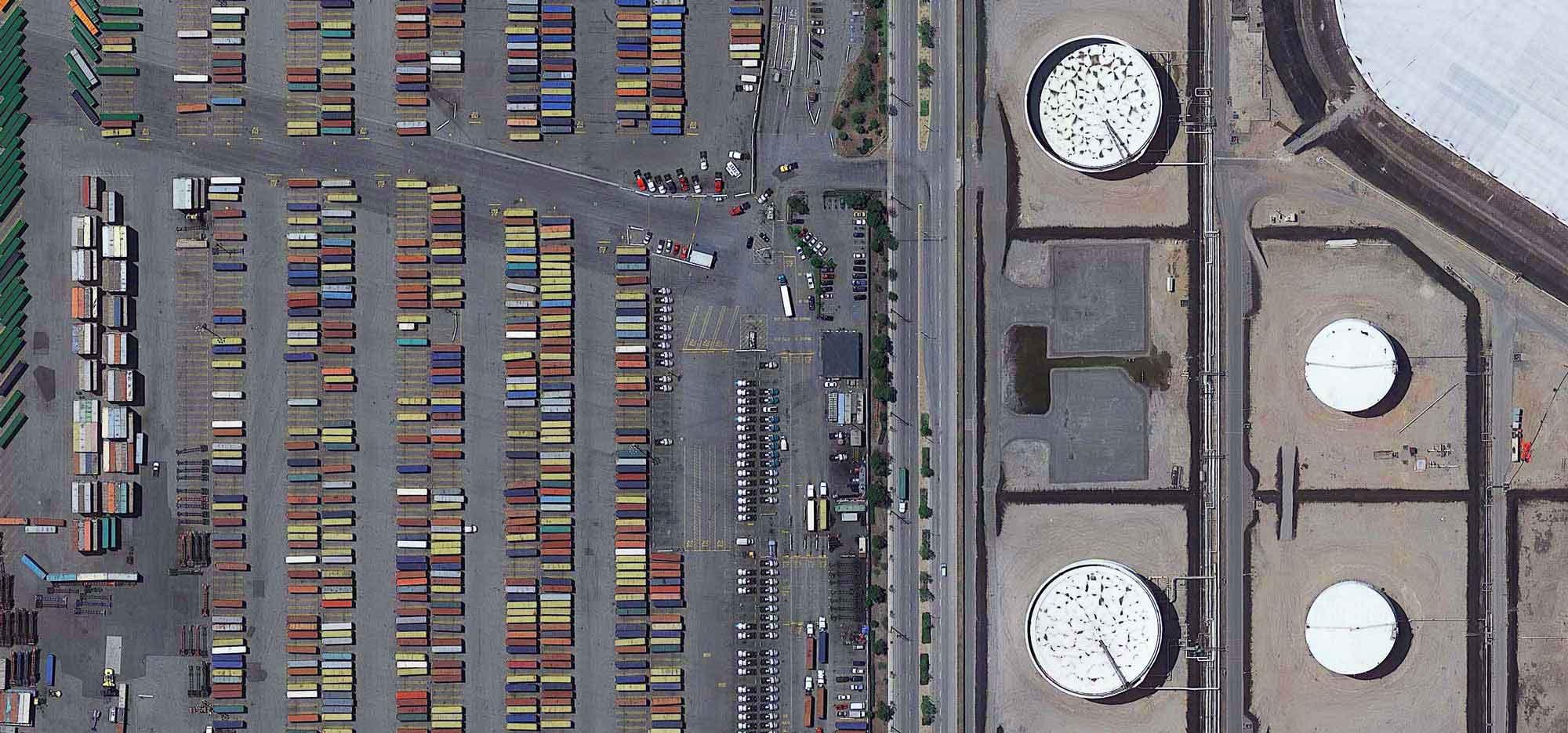 truck yard aerial