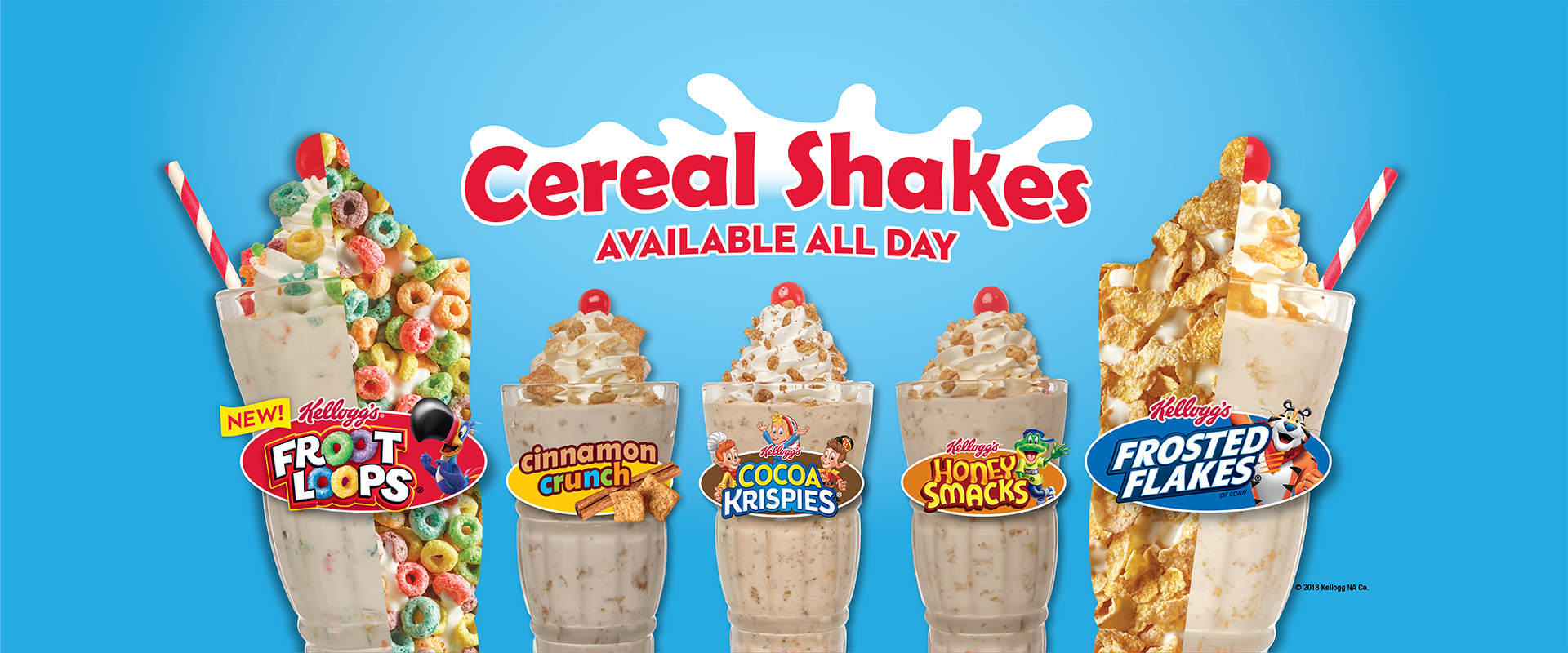 Cereal Shakes Available All Day