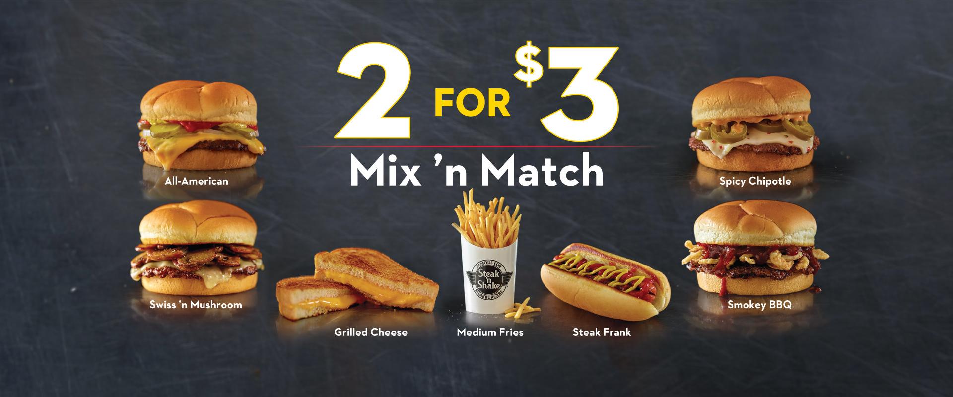 2 for $3 Value Menu