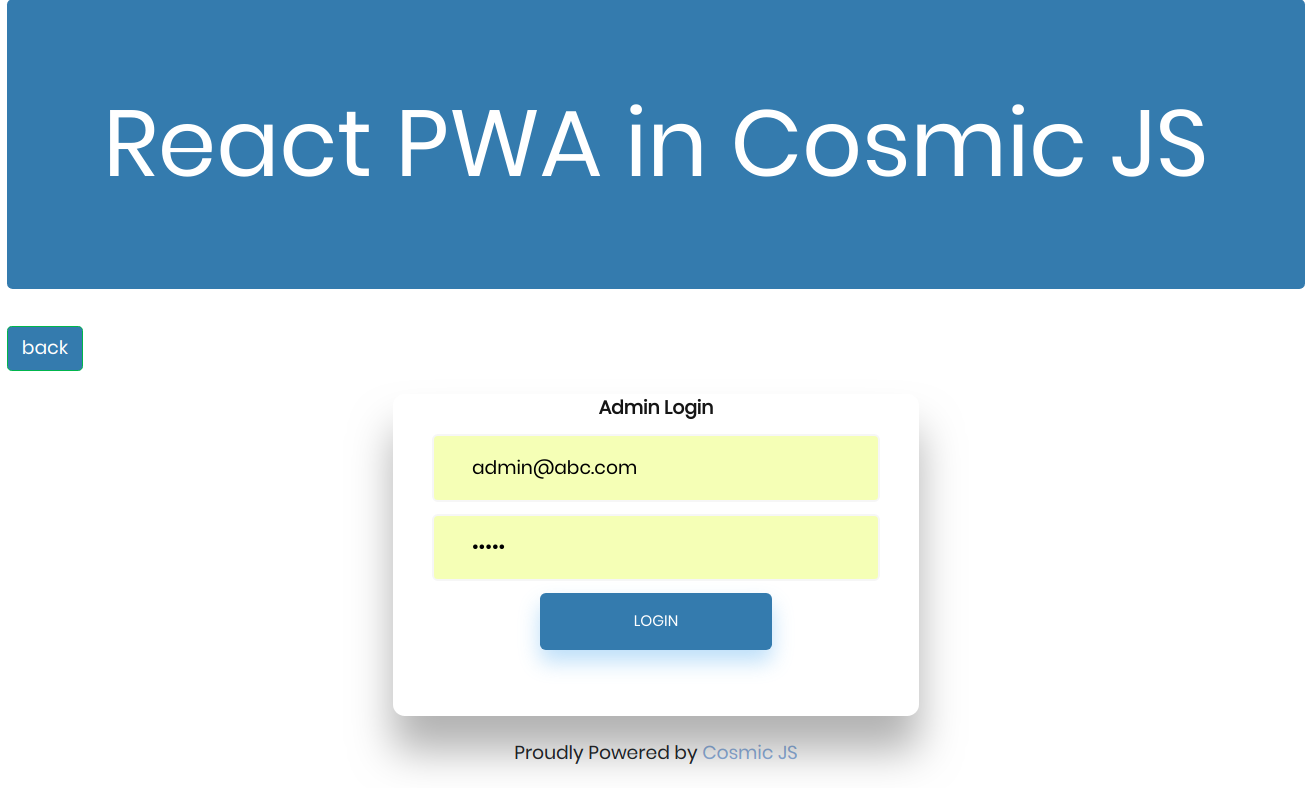 How to Build a PWA in React js and Cosmic JS | Cosmic JS