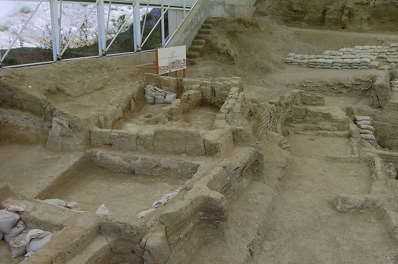 Exposed foundations of the city