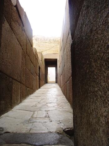 A narrow stone causeway