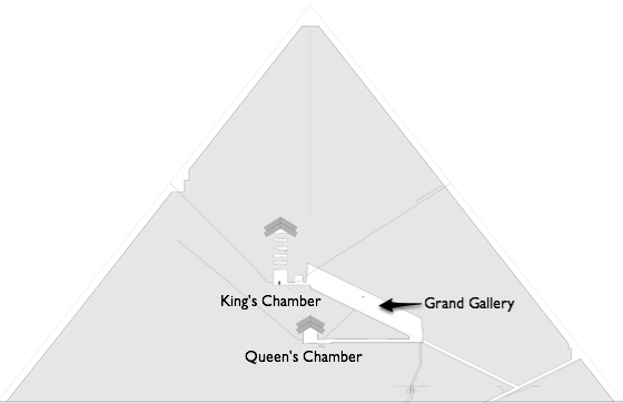 The entrance leads to the grand gallery; beneath the grand gallery is the Queen's Chamber, and above is the King's chamber.