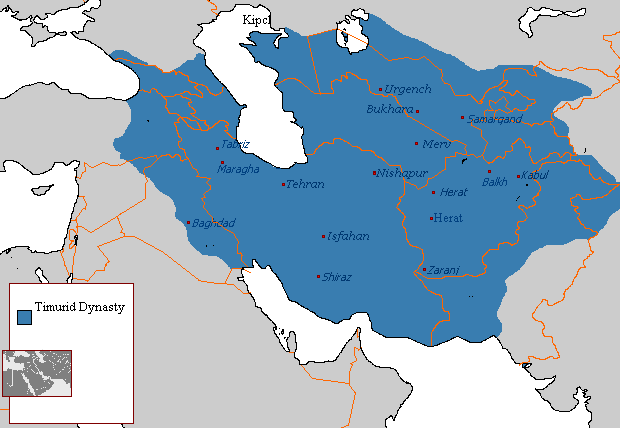 The territory included Iran, Turkmenistan, Uzbekistan, Afghanistan, and Tajikistan, as well as parts of Turkey, Syria, Iraq, Pakistan, Kyrgyzstan, and Russia.