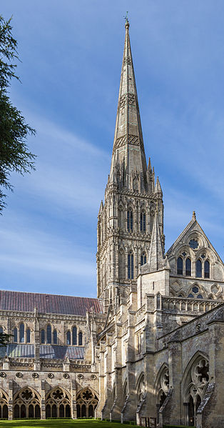 The spire is incredible intricate, with designs so small that they cannot be distinguished at this distance.