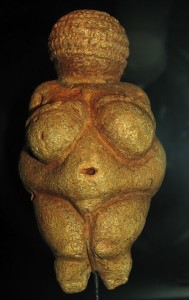 An ancient carving, thought to be a fertility symbol.