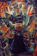 Umberto Boccioni, Materia, 1912 (reworked 1913), oil on canvas, 226 x 150 cm (Mattioli Collection loaned to Peggy Guggenheim Collection, Venice)