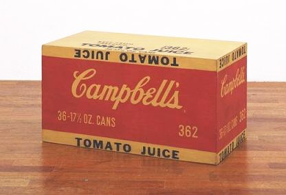 Campbell's_Tomato_Juice_Box._1964._Synthetic_polymer_paint_and_silkscreen_ink_on_wood