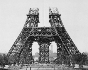 Eiffel Tower, Start of construction of second stage, May 1888