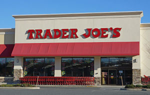 Photo of the front of a Trader Joe's store
