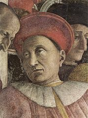 Detail of a painting showing Ludovico III