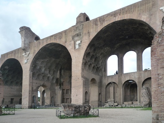 Arches in roman architecture. The arch is used for ceilings, windows, and doorways.