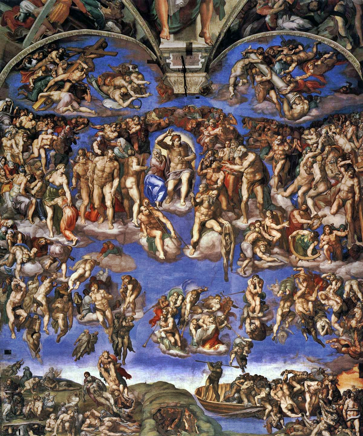 Image result for michelangelo heaven and hell