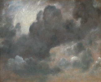 A painting of light interacting with clouds