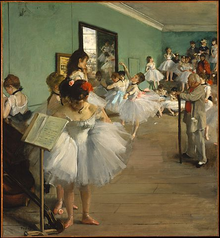 a group of practicing ballerinas, being observed by their Dance Master.