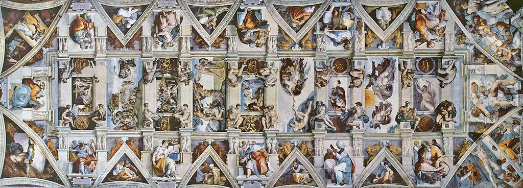 Figure 1. Michelangelo, Sistine Chapel Ceiling (center only), 1508–12 (Vatican, Rome)