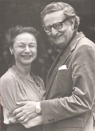 """A photograph shows Hans and Sybil Eysenck together."""""""