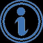 """Blue """"information"""" symbol, the letter i"""