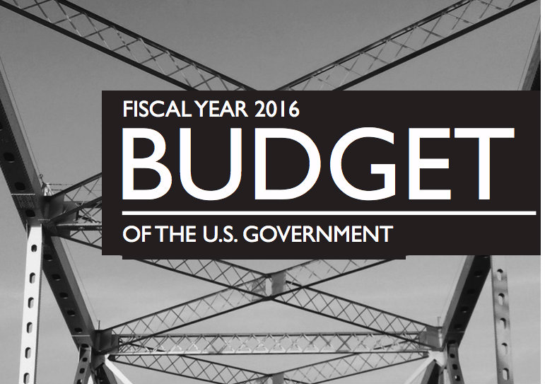 "Image with text stating, ""Fiscal Year 2016: BUDGET of the U.S. Government"""