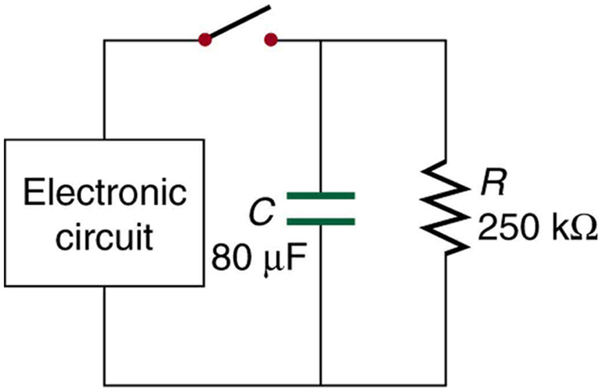 DC Circuits Containing Resistors and Capacitors | Physics