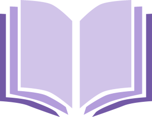 Clip art of open book in purple