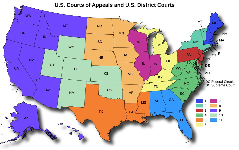 A map of the Unites States titled