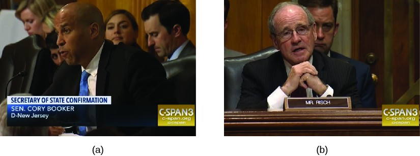 Image A is of Cory Booker. Image B is of Jim Risch.