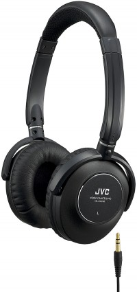 Photograph of a pair of headphones and the jack used to connect it to the sound system.