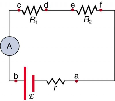 Ammeter Diagram Circuit | Dc Voltmeters And Ammeters Physics