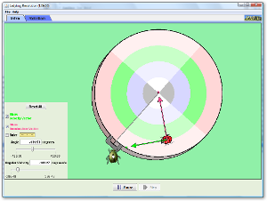 Screenshot of simulation